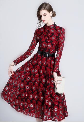 Spring New Temperament Slim Lace Dress