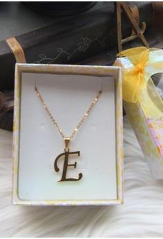 E initial Pendant Necklace