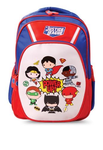 DC Comics red and blue Justice League School Bag 05381KCC525B76GS_1