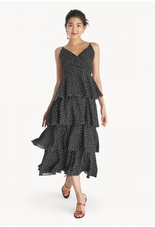 d76651d39bc Maxi Ruffle Tiered Dress - Black C9857AA1961173GS 1