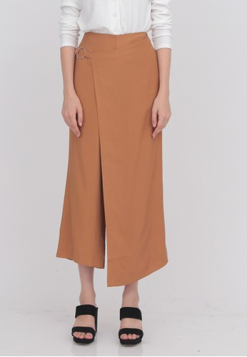 Odiva Woman brown JANETA WRAPPED CULOTTES BROWN 353D5AA5B5BEE8GS_1