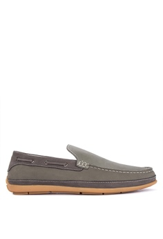 9546e9385 Sledgers grey Leander Boat Shoes 0CC6FSH0077F9EGS 1