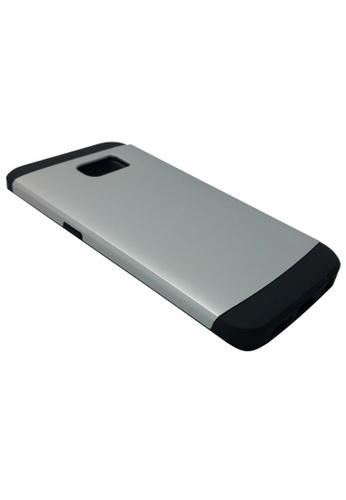 newest e0bd2 54a3f Sleek Shockproof Case for Samsung Galaxy S6 Edge (Silver)
