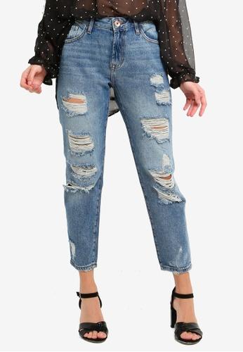 OVS blue Broky Boyfriend Jeans B20F5AABA8CE5FGS_1