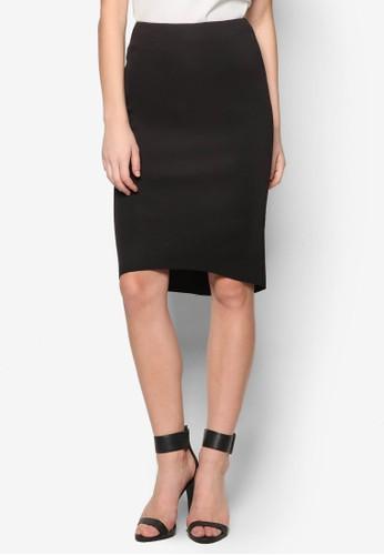 前短後長及膝短裙, zalora 評價服飾, 及膝裙