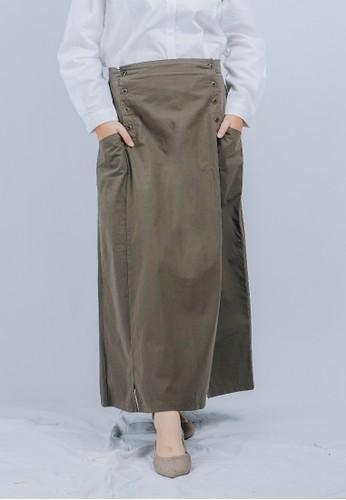 Sekido Official black and brown Sekido Skirt RUHAMA Army FA294AA5F99F3CGS_1