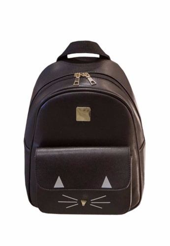 TCWK black TCWK Korea Style Black PU Leather Handbag TC258AC0SI4CMY_1