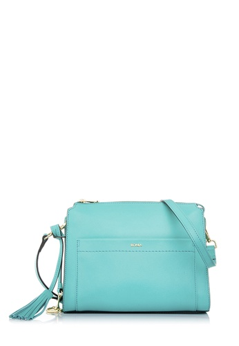 BONIA green Bonia Mint Crocuet Crossbody Bag S 9FA25AC12A2BBBGS_1