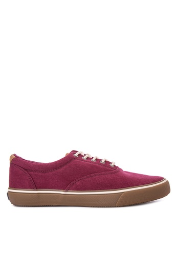 Sperry red Striper Cvo Textured Canvas Sneakers SP132SH0IJXGPH_1