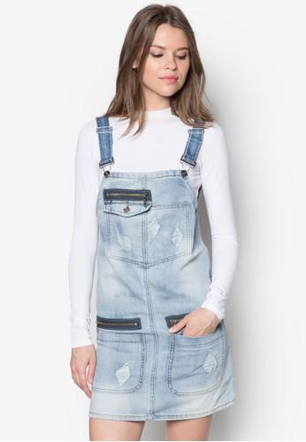 單肩斜擺zalora是哪裡的牌子上衣, 服飾, 連身褲