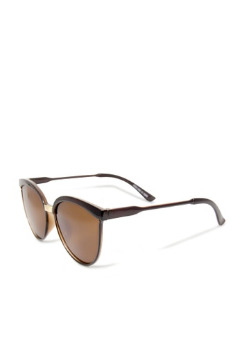 ASLLY multi and brown Budapest│Cat-Eye Brown Sunglasses C51ABGLF9B9D7FGS_1