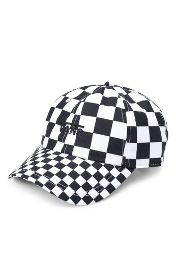 VANS black and white Court Side Printed Cap 59431AC73526AAGS_1
