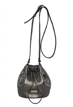 Ladies Leather Drawstring Bag