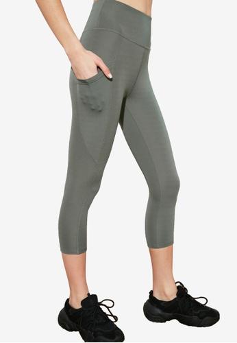 Trendyol green Side Pocket Sports Leggings D0C38AA0AFF19FGS_1