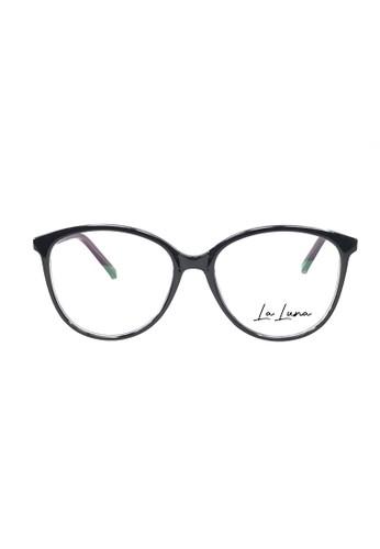 Ibrillen Optical black LA LUNA 1002 - C01A Women Cat Eye Glasses Black Purple 88BC9GL35A11B4GS_1