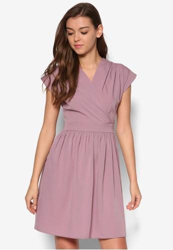 交叉裹飾傘狀洋裝, 服飾,esprit台灣門市 洋裝