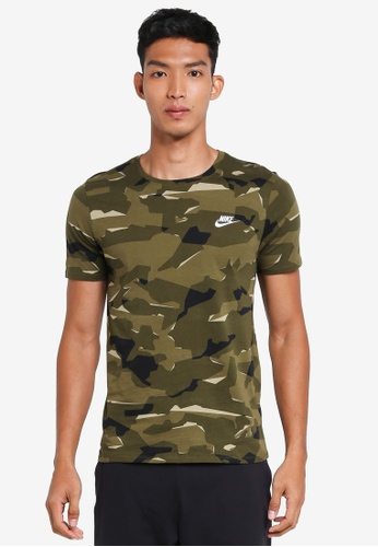 Nike white and green Nike Sportswear T-Shirt D50C7AAFF6CF7FGS_1