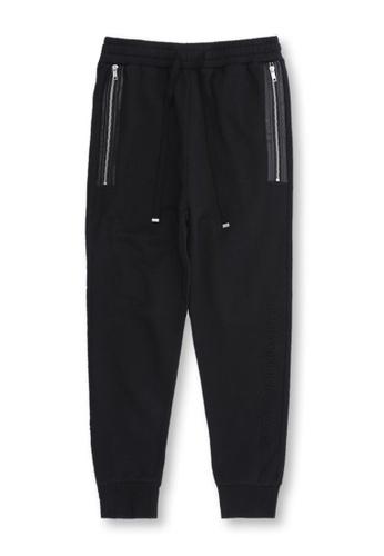 MUSIUM DIV black Slim-fit track pants 7D6C9AA7149158GS_1
