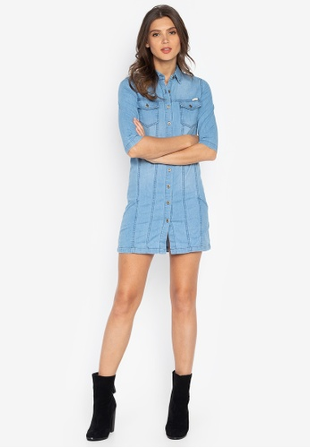 e33548af5cb Shop BNY Denim Mini Dress Online on ZALORA Philippines