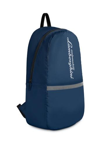 LAMBORGHINI blue Automobili Lamborghini® Galleria Blue Backpack 50226AC3CE8735GS_1