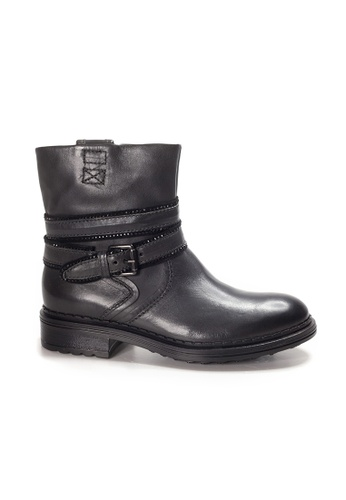 Shu Talk grey Lecca Lecca Zippy Leather Ankle Boots with Buckle 02918SH5B8BCE5GS_1