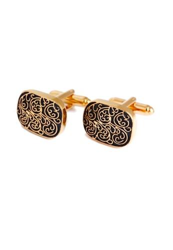 Kings Collection gold Gold Roman Pattern Cufflinks (KC10008) 77D14AC8E6848DGS_1