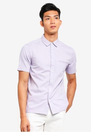 Topman purple Lilac Slub Short Sleeve Shirt 03512AA9CC161CGS_1