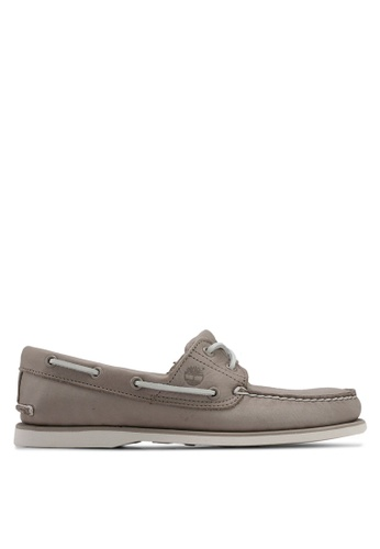 Timberland grey Classic Boat 2 Eye Boat Shoes F15B2SH7CE3631GS_1