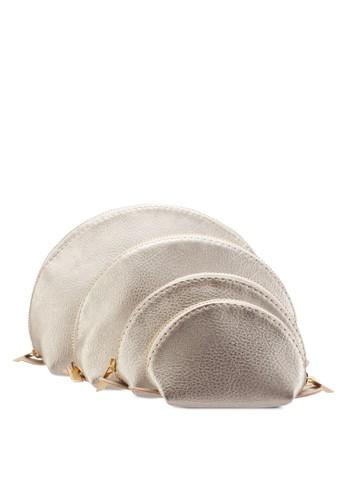 四入仿esprit china皮扇貝化妝包, 包, 美容保養