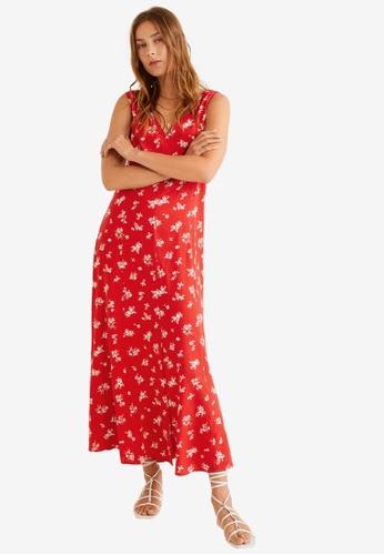 Mango 紅色 Printed Long Dress 1820EAAD4728E7GS_1