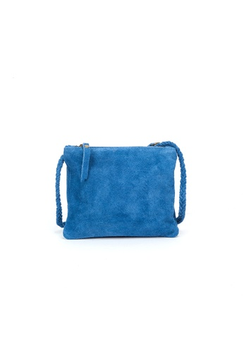 Shu Talk blue DMR Touch Boho Suede Leather Shoulder Bag 1E514AC2EBE788GS_1