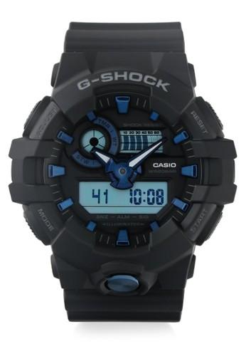 G-Shock black Casio G-SHOCK Jam Tangan Pria - Black Blue - Resin - GA-710B-1A2DR E508DACE4CFA0EGS_1