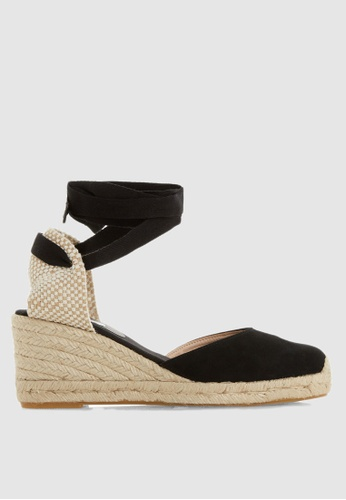 5c5ab956630cd Buy Dune London Kasey Ankle Tie Two Part Wedges Online   ZALORA Malaysia