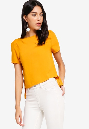 500bb459d352 Buy ZALORA Pleated Back Top Online on ZALORA Singapore