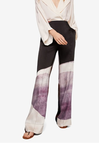 Mango purple Printed Trousers E916BAA0567083GS_1