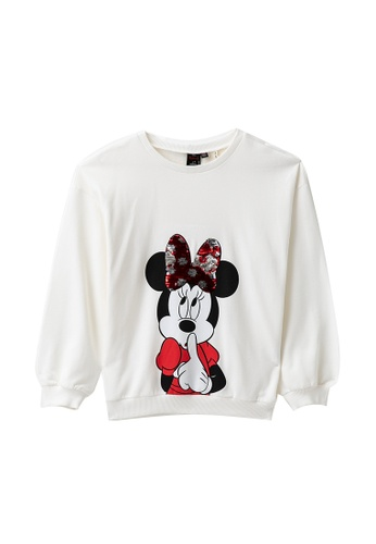 KOTON white Casual Sweatshirt 1B0D0KAD96301EGS_1