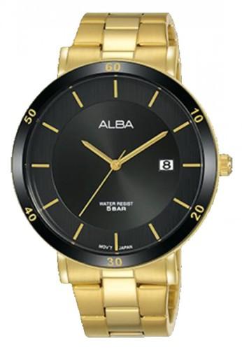 Alba gold Jam Tangan Pria Alba Prestige Original Garansi Resmi AS9H66 AS9H66X1 Strap Stainless Steel Gold B180BACE6C12FCGS_1