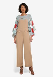 bYSI brown Pinafore Pocket Jumpsuit BY867AA0S3KRMY_1