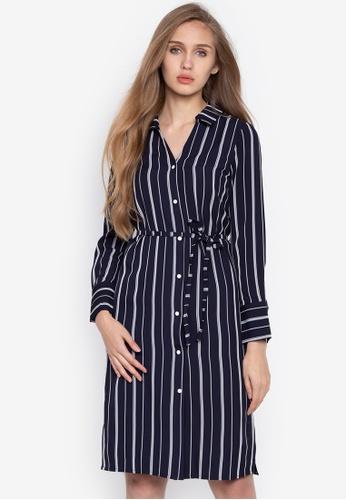 ZALORA navy Twist Detail Shirt Dress 8A9D7AA36110F0GS_1
