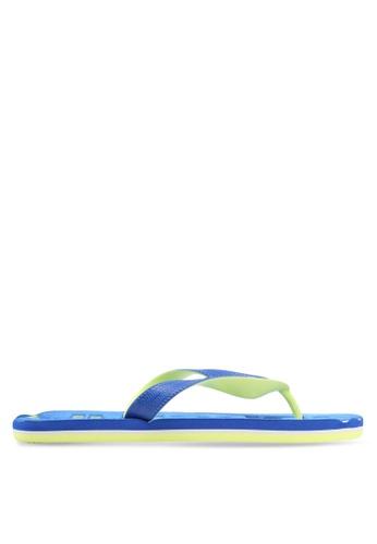 Superdry blue Scuba Faded Flip Flops 8AC41SH48127A0GS_1