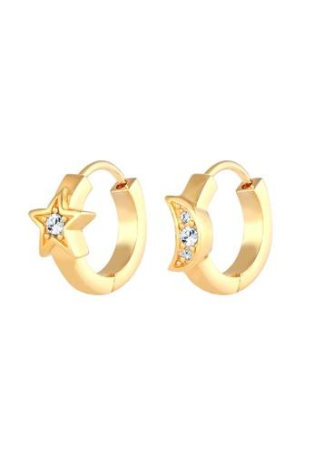 Elli Germany white Perhiasan Wanita Perak Asli - Silver Anting Hoops Astro Swarovski® Lapis Putih 4366AACD43030FGS_1
