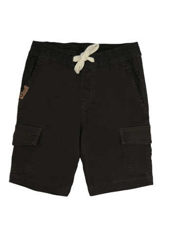 Grizzly brown Boys Toddler Twill Cargo Shorts FCF13KA72D4EEAGS_1