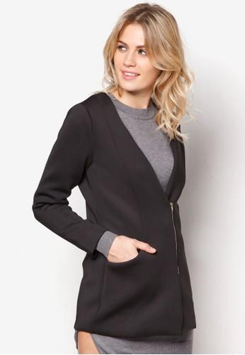 裹飾拉鍊zalora是哪裡的牌子外套, 服飾, 長褲及內搭褲