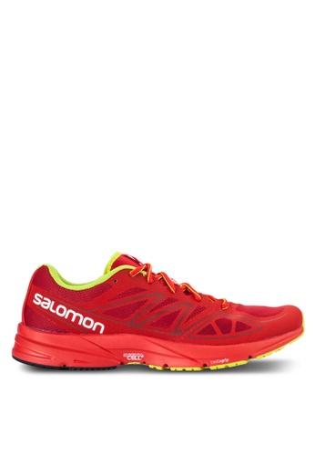 Salomon red Sonic Aero Shoes SA438SH06WDXMY_1