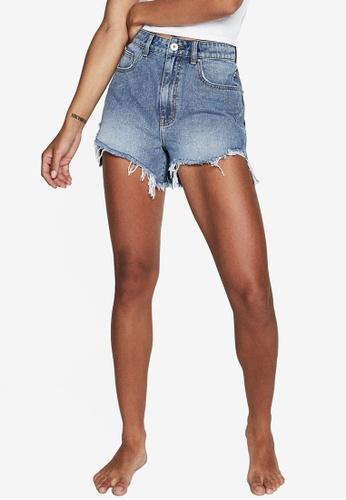 Cotton On blue High Rise Harley Denim Shorts 3F225AA879614BGS_1
