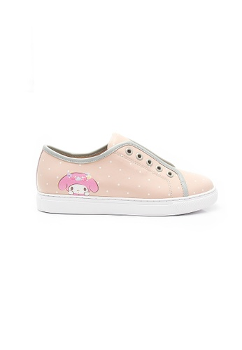 Elisa Litz pink My Melody Lace Up Sneakers (Pink) 7F358SHAB82C16GS_1