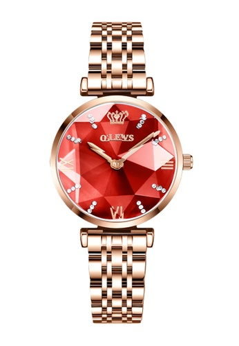 OLEVS red [Valentines Special]  Olevs Eonian Women Quartz Watch B4100AC094E9C2GS_1