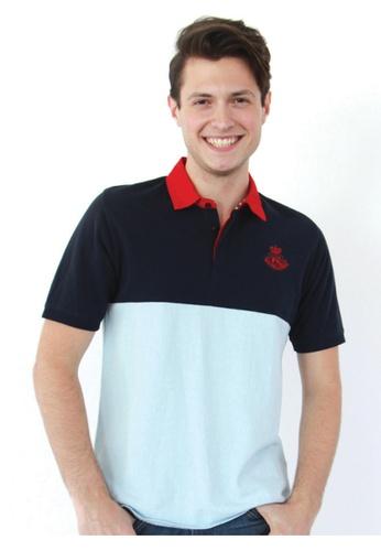 POLO HAUS multi Polo Haus - Collar Knit Wear (Blue/Red) PO783SE81FKOMY_1
