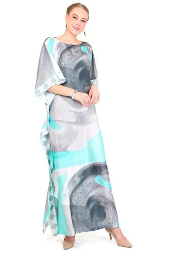 Kanzi by liza yahya multi Kanzi Exclusive Short Sleeve Classic Kaftan AA1BFAADF92E43GS_1