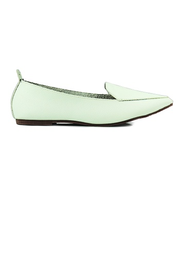 SHINE white Faux Leather Loafers E6D45SH5485B33GS_1